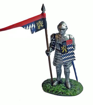 """Caballero con armadura """"Guerreros Medievales"""", 1:32, Altaya"""