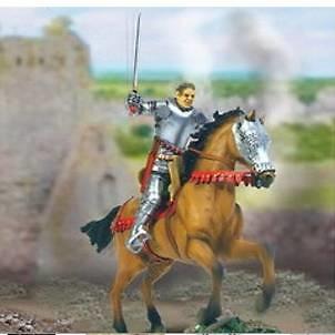 Caballero de la Guerra de los 100 Años a caballo, 1:32, Forces of Valor