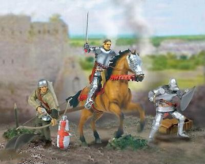 Caballero de la Guerra de los 100 años más dos soldados y accesorios, 1:32, Forces of Valor