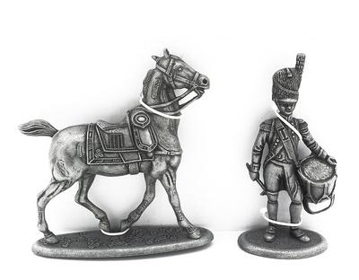 Caballo de la Artillería a Pie de los Guardias Imperiales, Tambor de la Artillería a Pie de los Guardias Imperiales, 1:24, Atlas Editions