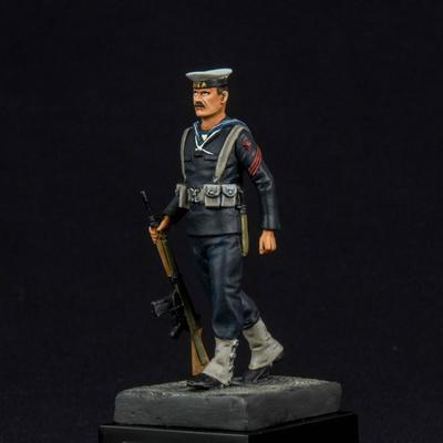 Cabo 2º Especialista de la ETEA, Armada Española, uniforme de invierno, 75 m.m.