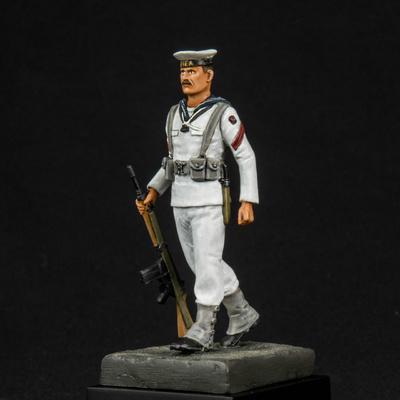 Cabo 2º Especialista de la ETEA, Armada Española, uniforme de verano, 75 m.m.