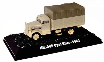 Camión Opel Blitz, Kfz.305, 3 Ton, 4x2, Alemania, 1942, 1:72, Amercom