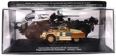 "Camionetta Desetica AS 42 ""Sahariana"", Raggruppamento Sahariana, Túnez, 1943, 1:72, Altaya"