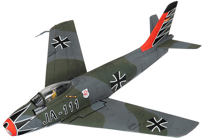 Canadair Sabre MkVI, Luftwaffe, JA-111, Hartmann JG71, 1 Staffel, 'Richthofen', Wittmundhafen, 1963, 1:72, Corgi 1963