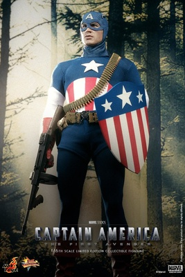 Capitán América, Star Spangled Man Version, 1:6, Hot Toys