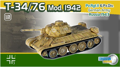 Captured T-34/76 Mod.1942, Pz.Rgt.II, 6.Pz.Div., German Army, Russia 1943, 1:72, Dragon Armor