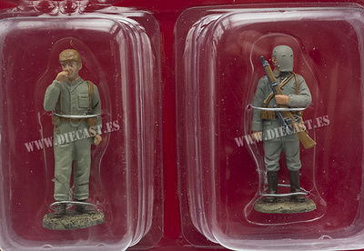 Carrista, Gran Bretaña, 1916 + Francotirador Alemán, 1916, 1:32, Hachette