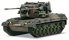 Carro Flak Gepard, con radar y armamento, Alemania, 1:87, Märklin