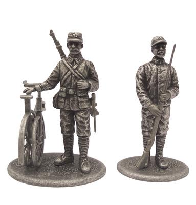 Cazador Ciclista y Guardia Territorial, Francia, 1914, 1:24,  Atlas Editions