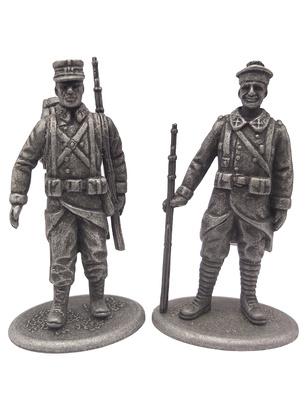 Cazador de Infantería e Infante de Marina, Francia, 1914, 1:24, Atlas Editions