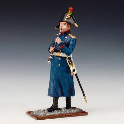 Cazador músico tocando el clarinete, Guardia Imperial Francesa, 1815, 1:24, Schuco