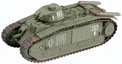Char B1, August 1944, Paris, German Flammpanzerwerfer # 36157, 1:72, Easy Model