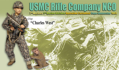 """Charles West"", USMC Rifle Company NCO, 7th Marines, 1st Marine Division, Cape Gloucester, 1943 (GSgt), 1:6, Dragon Figures"