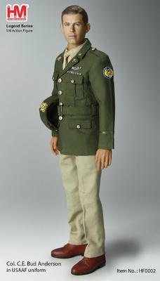 "Clarence Emil ""Bud"" Anderson US WWII ""Triple Ace"" Fighter Pilot, 1:6, Hobby Master"