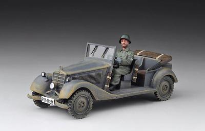 Coche de Policia SS Alemán con figura, 1:30, Thomas Gunn