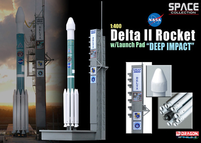 "Cohete Delta II con lanzadera ""Deep Impact"", 1:400, Dragon Space Collection"