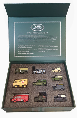 Conjunto de 10 Land Rover, 1:76, Oxford