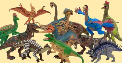 Conjunto de 12 Dinosaurios articulados