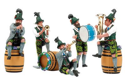 Conjunto de cinco músicos bávaros, 1:24, Schuco