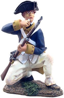 Continental Line NY/NJ, soldado cargando el fusil1:32, William Britains