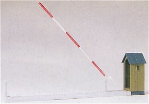 Control post with barrier, 1:87, Preiser
