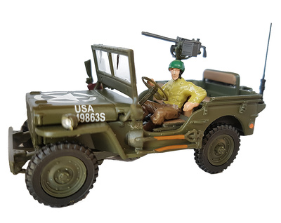 Converted Jeep with driver, 1:43, Cararama