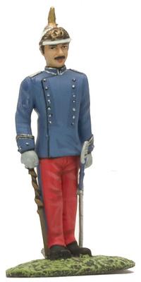 Coronel del Regimiento de Dragones de Santiago, Ej. Español, 1885, Altaya