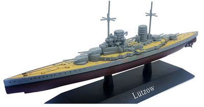 Crucero de Batalla Lützow, Kriegsmarine, 1913, 1:1250, DeAgostini