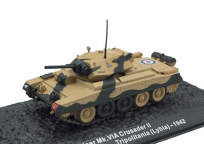 Cruiser Mk. VIA Crusader II, 1st Armoured Division, Libia, 1942, 1:72, Altaya