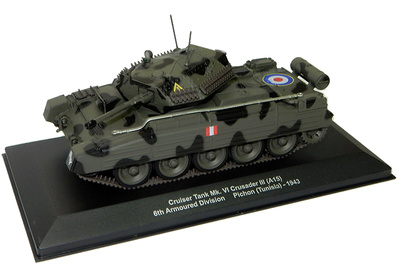 Crusader III (A15), 6th Arm Div, Pichon, 1943, 1:43, Altaya