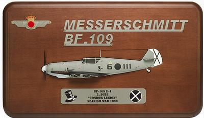Cuadro de Messersmichtt BF-109E-1, Legión Cóndor, Guerra Civil Española, 1:48, Mark Model