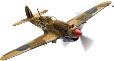 Curtiss Tomahawk IIB, AK402, P/O Neville Duke, 1:72, Corgi