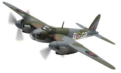 D.H Mosquito B.IV, DK296 / GB-G, Flight lieutenant D A G 'George' Parry, RAF No.105 Squadron, Junio, 1942, 1:72, Corgi
