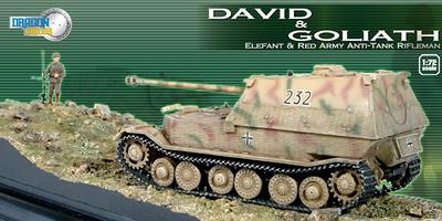 """David & Goliath"" Elefant vs Red Army Anti-Tank Rifleman + Diorama Base, 1:72, Dragon Armor"