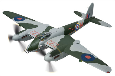 De Havilland Mosquito FBVI NS850 'The Black Rufe', 418 City of Edmonton Sqn, RCAF, 1944, 1:32, Corgi