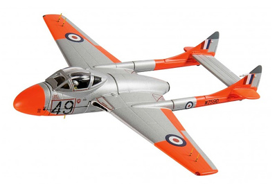 De Havilland Vampire T11, WZ590, 5 FTS, 1962, IWM Duxford, circa 2013, 1:72, Corgi
