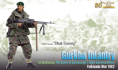 """Dhak Gurung"", Gurkha Infantry, 1st Battalion, 7th Duke of Edinburgh's Own Gurkha Rifles, Guerra de Las Malvinas, 1982, 1:6, Dragon Figures"
