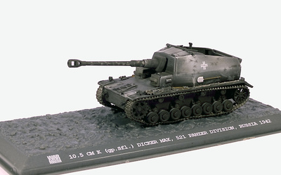 Dicker Max 10.5cm K gpSfl 521 Panzer Division, Rusia, 1942, 1:72, War Master