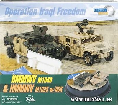 Diorama HMMWV M1046 & M1025 w/ASK, 1:72, Dragon Armor