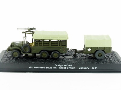 Dodge WC-63 4th Armored Division, Great Britain, January 1944, 1:72, Altaya