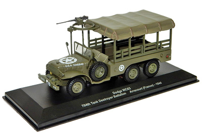 Dodge WC63, 704th Tank Destroyer Battalion, Arracourt, 1944, 1:43, Altaya