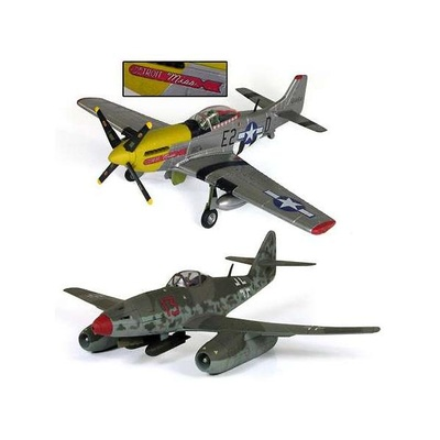 Dogfight dual pack, U.S: P-51D Mustang + Me-262A, 1:32, 21st Century Toys