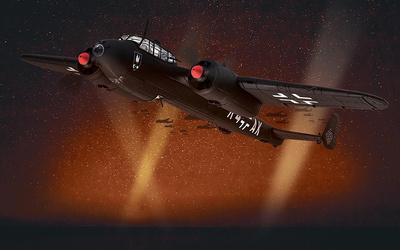 Dornier Do17Z-10 Kauz R4+AK, I/NJG.2, piloto Erich Jung, aeropuerto de Gilze-Rijen, Holanda, Octubre, 1940, 1:72, Corgi