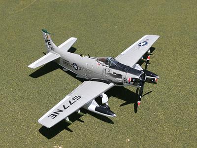 Douglas A-1H Skyraider, Douglas, USN VA-25 Fist of the Fleet, NE577, Clint Johnson, 1:72, Gemini Aces