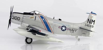 "Douglas A-1H Skyraider BuNo 134569, VA-52 ""Knight Riders"" USS Ticonderoga, 1967, 1:72, Hobby Master"