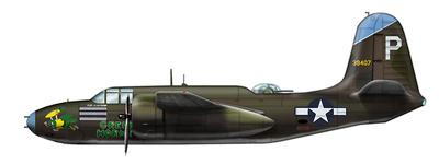 """Douglas A-20G Havoc 43-9407 """"Green Hornet"""", 675 BS, 417 BG New Guinea, 1944, 1:72, Hobby Master"""