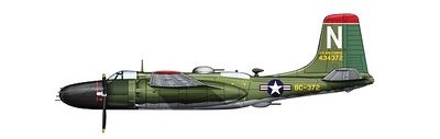 Douglas A-26B-56-DL Invader 13th Bomber sqn., 3rd Bomber Wing Iwakuni AB, South Korea, August 1950, 1:72, Hobby Master