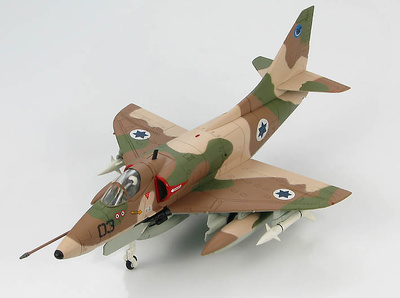 Douglas A-4H Skyhawk No 03, 109th Valley Sqn., Guerra del Yom Kippur, Israel, 1970, 1:72, Hobby Master