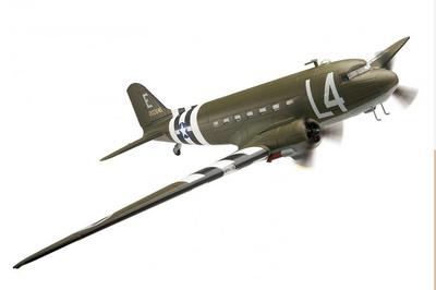 Douglas C-47 Skytrain, '42-100646' 439th TCG, 50th TCW, June 1944, Upottery, Devon, 1:72, Corgi